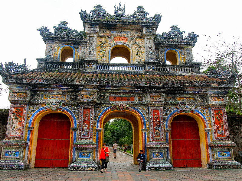 Hien Nhon Gate on the left of the Imperial City