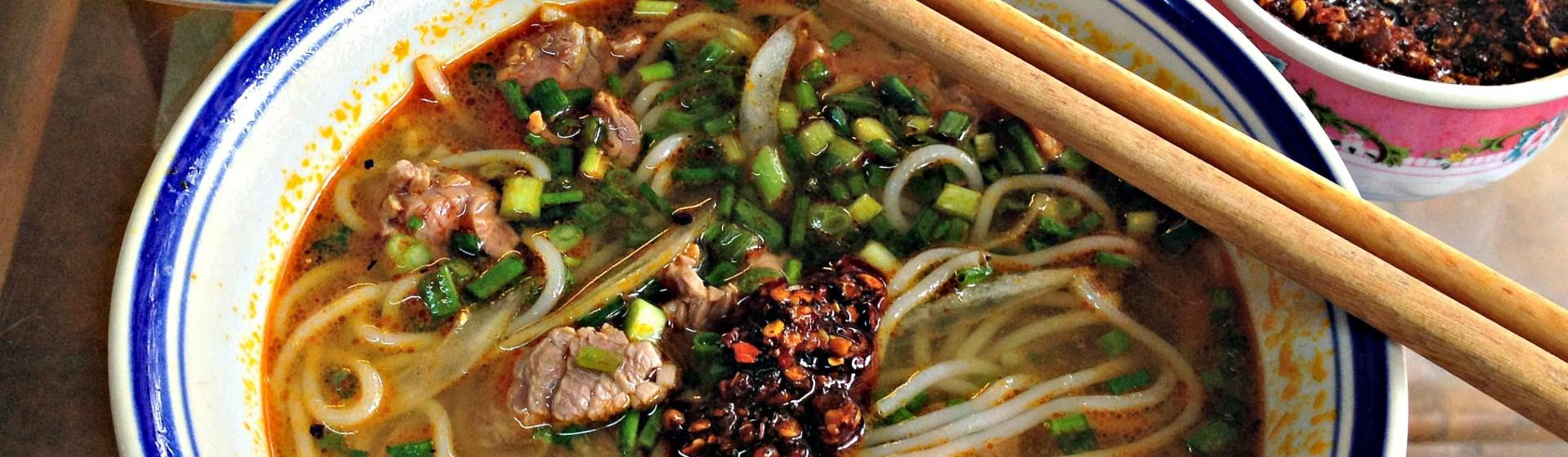 Typical Bún bò Huế up close