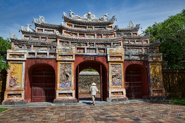 The Citadel in Hue is the main tourist attraction.