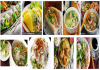 A collection of typical Vietnamese foods